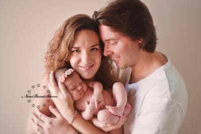 Newborns met ouders