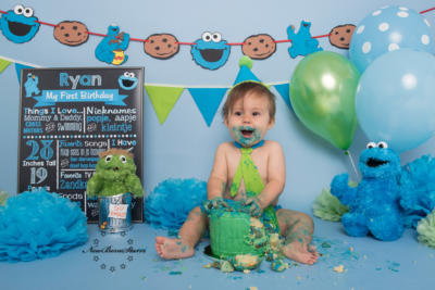 Cakesmash foto Cookiemonster Sesamstraat